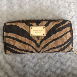 Michael Kors Tiger Stripe Wallet-Like New
